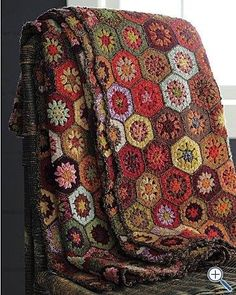 Gorgeous crochet afghan Boho style