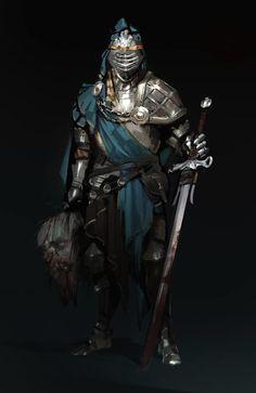 Knight, Valentin Demchenko on ArtStation at https://www.artstation.com/artwork/adDxX