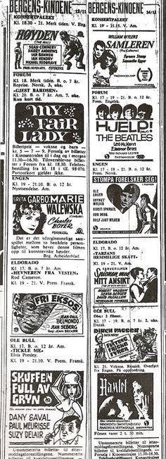 Filmer nov 1965. Ser at det koster 7,- kr på Forum kino.