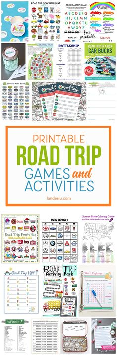 Printable Car Games for Kids: A Must for Your Next Road Trip! A TON of awesome printable car games for kids! So easy to print [. Road Trip With Kids, Family Road Trips, Travel With Kids, Family Travel, Bingo, Car Trip Games, Geek House, Car Games For Kids, Road Trip Activities