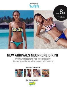 Only 8 usd Shop Now https://www.wish.com/c/573551e779a1ce5f06963505  New arrivals hot handmade bikini crochet neoprene for women  Make sure buy goods from SunnyMart Notice:Compared with popular bikini fabric,neoprene has less elasticity,it is easy to wrinkle but will be recovery after wearing. Material: Neoprene. Package Includes: 1 x Swimsuit Sets (Top+Bottom)