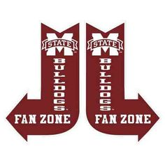 "Mississippi State Fan Zone Sign Material: Metal Size: 10"" x 16"" Right or left facing arrow sign, priced individually - sign available will be shipped Bulldogs Licensed collegiate"