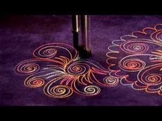 Formal and Floral Design Mix-Free Motion Quilting - YouTube
