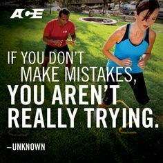 Don't be afraid to make mistakes. #fitness #motivation