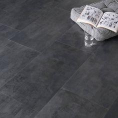 dalle pvc clipser clic beton anthracite artens 32 4 x 65 5 cm mat riaux rev tements sols. Black Bedroom Furniture Sets. Home Design Ideas