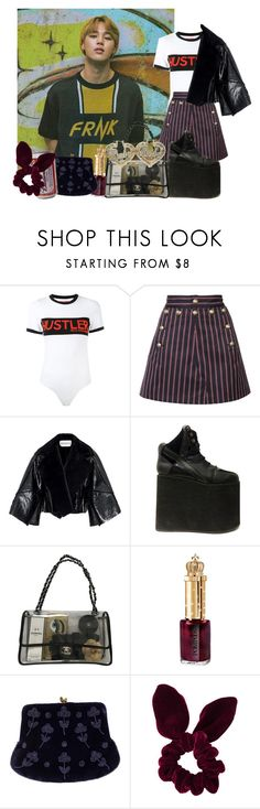 """""""Untitled #525"""" by danielagreg ❤ liked on Polyvore featuring Hood by Air, Maison Margiela, Chanel, Retrò, Gucci and Topshop"""