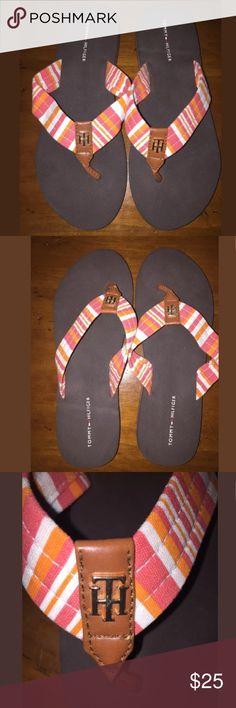 f8f0ecf15 Tommy Hilfiger Size 7 Sandal Flip Flop Thong Tommy Hilfiger Womens Ladies  Size 7 Sandal Flip