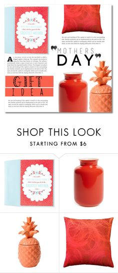 """""""Mother's Day Gift Guide"""" by dolly-valkyrie ❤ liked on Polyvore featuring interior, interiors, interior design, home, home decor, interior decorating, Middle Kingdom, Pillow Decor, Kate Spade and mothersdaygiftguide"""