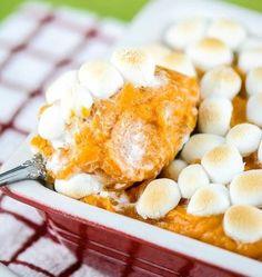 Sweet Potato Casserole Recipe With Marshmallows, Good Sweet Potato Recipe, Recipes With Marshmallows, Thanksgiving Sweet Potato Recipes, Fall Recipes, Holiday Recipes, Thanksgiving Sides, Holiday Meals, Christmas Recipes