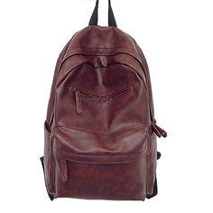 Designer Men Backpacks Pu Leather Rucksack School Bag For Teenagers Black Women Backpack Travel Bolsas Mochila Feminina XA194B