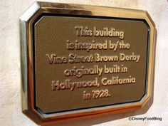 The Brown Derby Sign Commemorating The Original Brown Derby Established In Hollywood, California.
