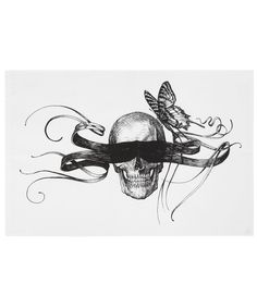 Masked Skull Tea Towel, Rory Dobner. Shop more tea towels from the Rory Dobner collection online at Liberty.co.uk