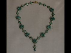 Sidonia's handmade jewelry - Blooming Romance beaded necklace tutorial - YouTube
