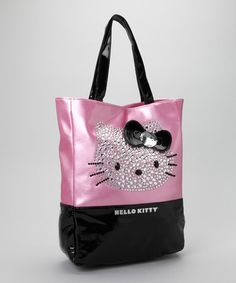 Take a look at this Pink  amp  Black Sparkle Tote by Hello Kitty on   6dd7059f45