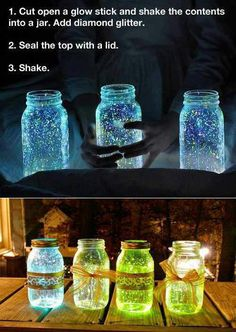 Name: CUVRR Original Inspiration: http://pinterest.com/pin/301530137521745917/ What I Did: We thought these glow in the dark mason jars would be perfect for an upcoming outdoor party. The instructi...