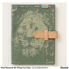 Wind Beneath My Wings Lion Butterfly Animal Art Journal