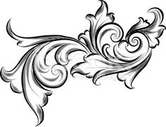 Lined Scrolls royalty-free stock vector art