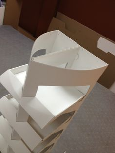 Curved Triangular Floor Stand (1/2 scale) by Brian Bell, via Behance