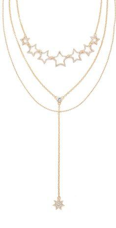 Noir Jewelry Triple Strand Necklace