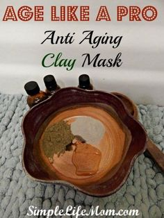 Age Like A Pro - Anti Aging Clay Mask with clay, essential oils, honey, and apple cider vinegar. Homemade Beauty Recipes at Simple Life Mom