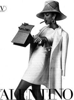 80s-90s-supermodels:    Valentino, 1991Photographer: Steven MeiselModel: Yasmeen Ghauri