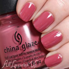 Marsala Nail Polish - China Glaze Fifth Avenue via @alllacqueredup