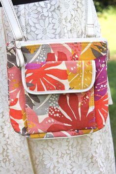 Fossil Relic Multi Color Canvas Floral Print Cross Body Handbag #FossilRelic #CrossBodyShoulderBag