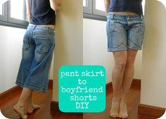 HilaTina: pant skirt to boyfriend shorts PHOTOTUTORIAL