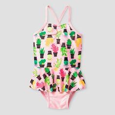 Baby Girls' Cactus One Piece Swimsuit Cat & Jack™ - Pink : Target