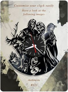 US $39.99 New in Home & Garden, Home Décor, Clocks #birthday_gift #home_decorating_ideas #home_decor #holiday_gift #holiday_present #disney #frozen #vinyl_clock #kids_present #disney_vinyl_clock #disney_record_clock #disney_vinyl_record_clock
