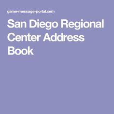 San Diego Regional Center Address Book