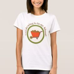 Womens cute gardening add message t-shirt - fun gifts funny diy customize personal