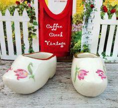 Vintage Collectible Miniature dutch clogs by CoffeeCreekVintage