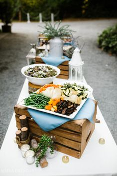 Alissa and Dan – Green Gates at Flowing Lake – Twelve Baskets Catering – Seattle Catering Voted By Seattle Magazine Adina Preston Photography Catering Food Displays, Catering Buffet, Fruit Displays, Catering Ideas, Decoration Buffet, Preston, Buffet Set, Gourmet Breakfast, Gaudi