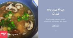 Recipe for hot and sour soup. Low Sodium Soy Sauce, Low Sodium Chicken Broth, Recipe For Hot And Sour Soup, Stuffed Portabello Mushrooms, Clam Sauce, Breakfast Lunch Dinner, Fresh Ginger, Sweet And Spicy, No Cook Meals