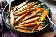 Baby carrots make a beautiful side dish to roast chicken, lamb and fish. Lamb Sides, Lamb Side Dishes, Baby Carrot Recipes, Easter Recipes, Roasted Baby Carrots, Carrots Side Dish, Moroccan Carrots, Lamb Dinner, Carrot Salad