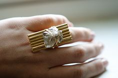 Herkimer Diamond Ring with Vintage Accents (as featured on the Today Show). $90.00, via Etsy.