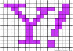 Yahoo logo perler bead pattern