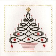 stitched christmas card