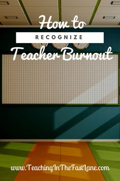 Teacher burnout. Tho