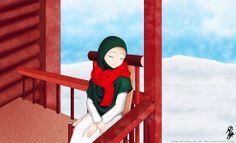 <3 Hijab Drawing, Drawing S, Hijab Fashion, Islam, Disney Characters, Fictional Characters, Deviantart, Cartoon, Manga