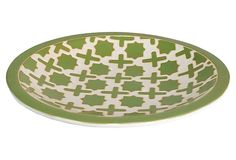 "19"" Ceramic Plate, Green on OneKingsLane.com"