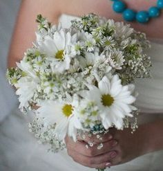 gerber daisy and baby's breath bouquet pink pale - Google Search