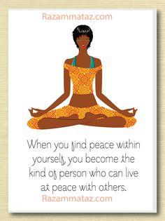 African American Yoga Card A