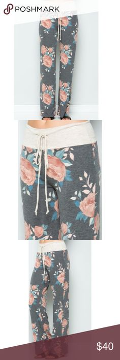 Floral casual long pants with drawstring Super soft and comfy. Floral casual long pants with drawstring.  63% Polyester, 34% Rayon, 3% Spandex The Chic Petunia Pants Wide Leg