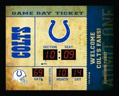 Indianapolis Colts Clock - 14x19 Scoreboard - Bluetooth #IndianapolisColts