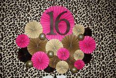Sweet 16 Leopard Party Backdrop #sweet16 #backdrop