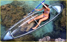 see-through canoe! this company also makes a see-through kayak.