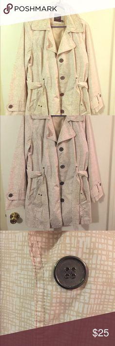 Tan/cream trench coat - XL Tan/cream trench coat - XL Faded Glory Jackets & Coats Trench Coats