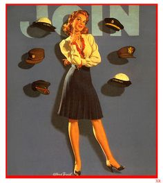 Which hat will you wear? ~ WWII women's recruitment poster, ca. 1940s.